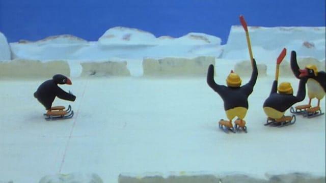 11. Pingu pelaa jääkiekkoa