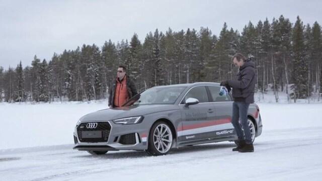 5. Markku Alénin talvisessa vauhtikäsittelyssä ärhäkkä perhefarkku Audi RS4