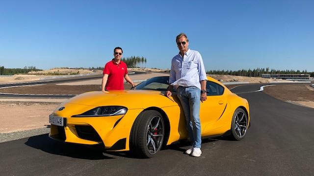 7. Markku Alén korkkaa Kymiringin uudella Toyota Supralla