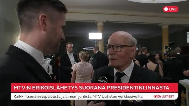 Linnan juhlat 2019, Gunnar Yliharju, 79, kertoi jutteluhetkestä presidentti Sauli Niinistön kanssa