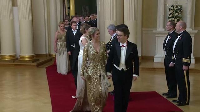 Juhlaklipit, Ville Niinistö uuden rakkaansa kanssa Linnan juhlissa