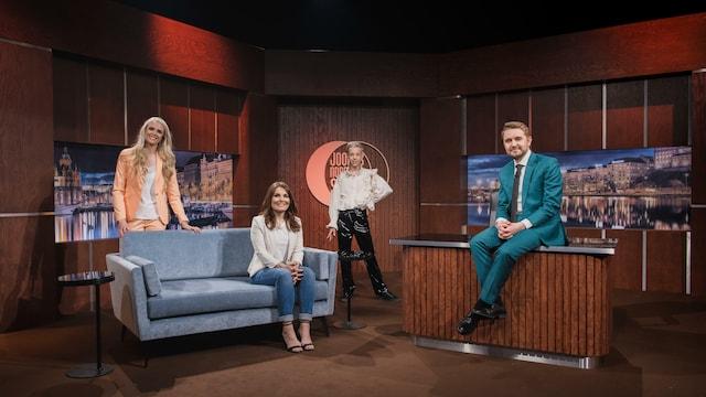 10. Vieraina Pirjo Heikkilä, Tuure Boelius ja Susanna Laine