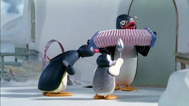 16. Pingu soittaa bändissä