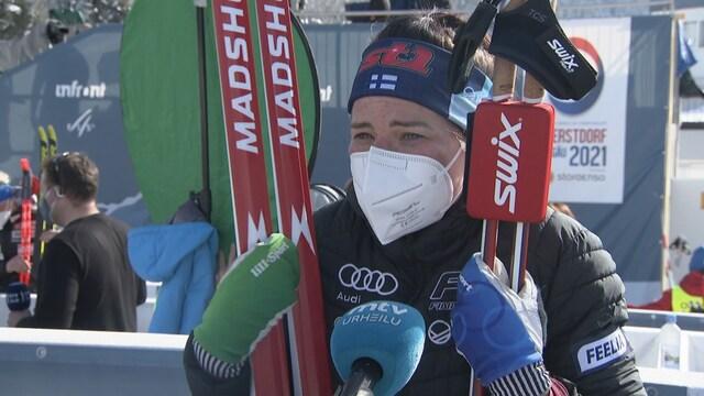 """Maastohiihto: MM-Oberstdorf, Krista Pärmäkoski kahdeksas kisojen päätösmatkalla: """"Olen tyytyväinen, että pysyin pystyssä"""""""