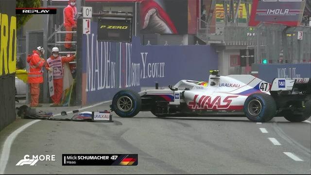 Mick Schumacher spinnaa seinään