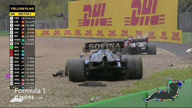 Bottas ja Russell rajussa kolarissa - brittikuski käy kuumana