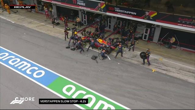 Red Bullilla sählätään - Verstappenin varikkostoppi venyy