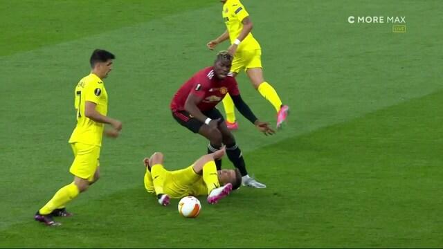Eurooppa-liiga, Villarrealin Juan Foyth kolhii päänsä pahannäköisesti Paul Pogban polveen