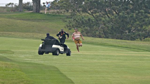 Golf, Viuhahtaja ryntäsi kentälle golfin U.S. Openissa – poliisi taltutti häirikön kovin ottein