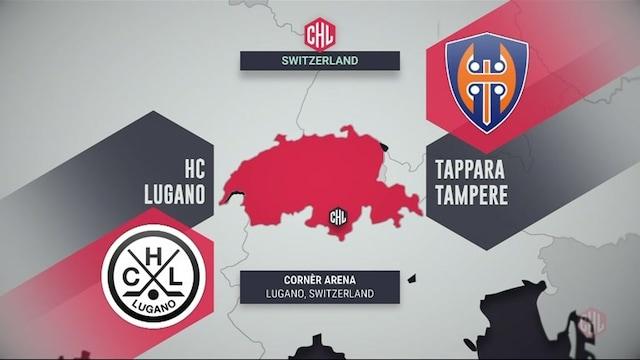 Champions Hockey League, Maalikooste: HC Lugano - Tappara