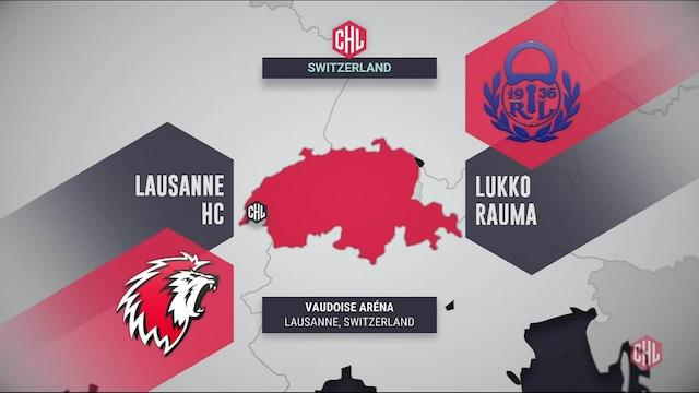 Champions Hockey League, Maalikooste: Lausanne - Lukko