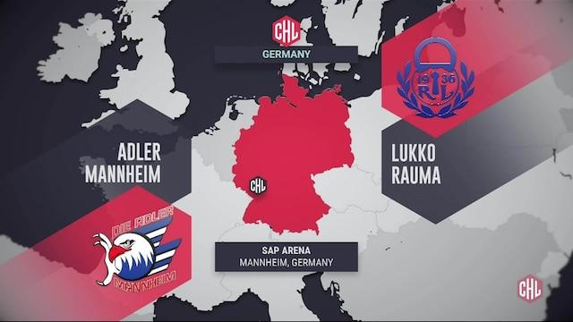Champions Hockey League, Maalikooste; Adler Mannheim - Lukko