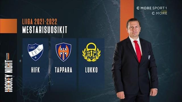 """Liiga, """"Lukko, Tappara ja HIFK mestarisuosikkeina kauteen"""""""