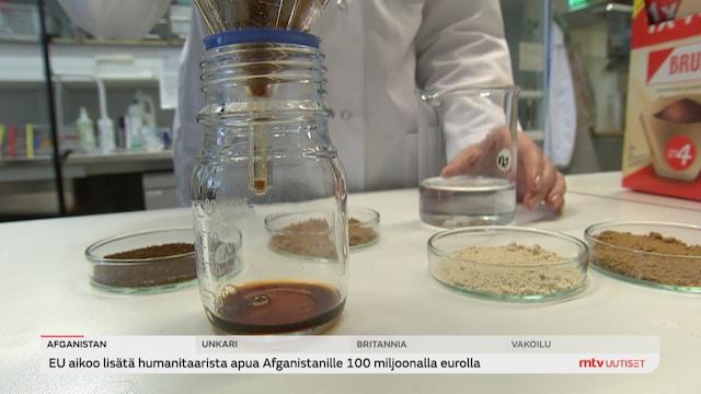 Uutisjutut: Kotimaa, VTT kehitti tavan kasvattaa kahvia kasvisoluista laboratorio-olosuhteissa