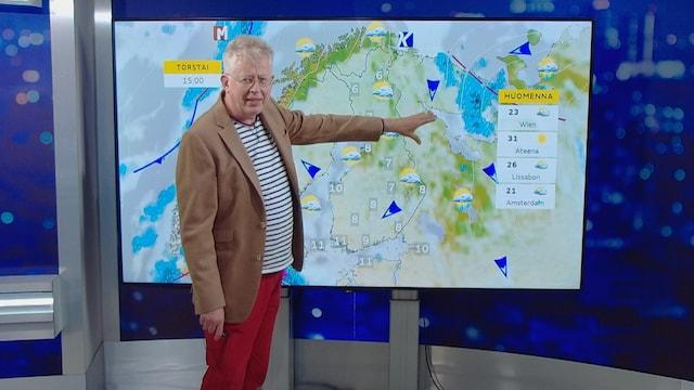 """MTV Uutiset Live, Pekka Pouta ensi viikon säästä: """"Onneksi en ole putkeen koko viikkoa töissä"""" – tällaista on luvassa"""
