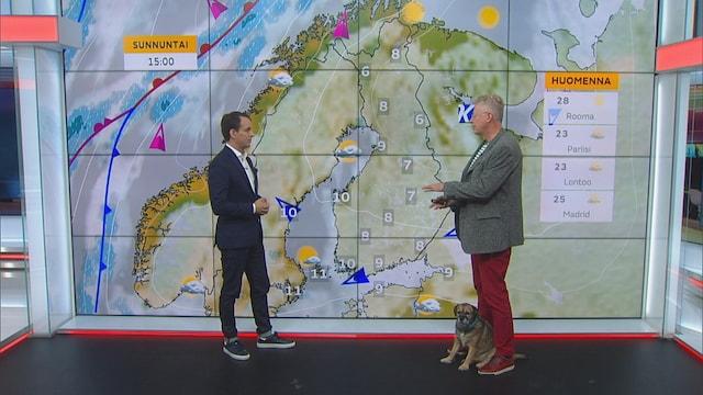 Uutisaamu, Syksy painaa päälle kovaa vauhtia – Pekka Pouta kertoo tulevasta kotimaan säästä