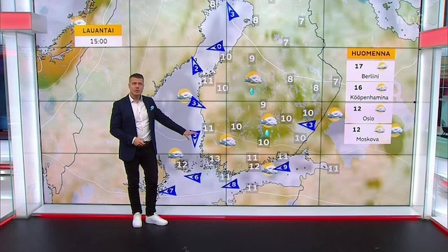 Päivän sää, Perjantai 17.9. Pilvilautta sinnittelee Suomen yllä