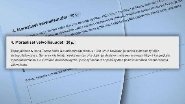 MTV Uutiset Live, Yo-kirjoitusten seksuaalirikosoikeudenkäyntiä koskeva tehtävä aiheutti närää – tällaisesta tehtävästä oli kyse