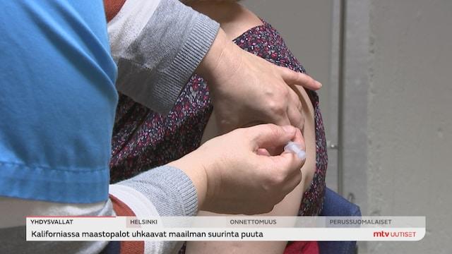 Uutisjutut: Kotimaa, Suomi on varautunut rokottamaan kaikki yli 12-vuotiaat kolmannen kerran