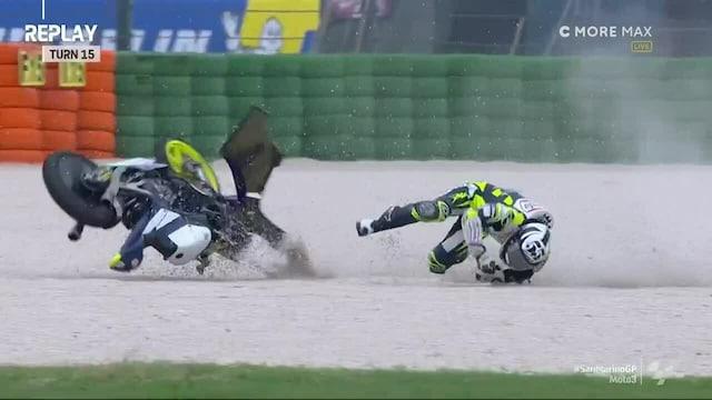 Moto3: San Marinon GP, Kilpailua hallinnut Romano Fenati kaatuu ja keskeyttää kärkipaikalta