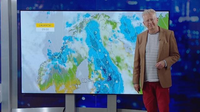 MTV Uutiset Live, Myräkkä tulee! Pekka Pouta kertoo, missä sataa ja kuinka paljon