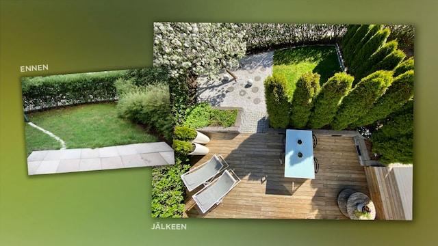 Viiden Jälkeen, Tältä näyttää maisemasuunnittelija Helga Anderssonin arviolta 50 000 euroa maksanut piha