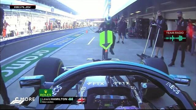 Formula 1: Venäjän GP, Lewis Hamilton keilaa tunkkimiehen nurin varikolla