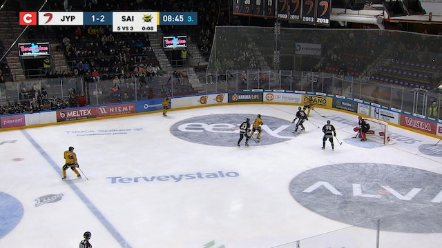 Liiga, SaiPa tekee 1-3 maalin ylivoimalla