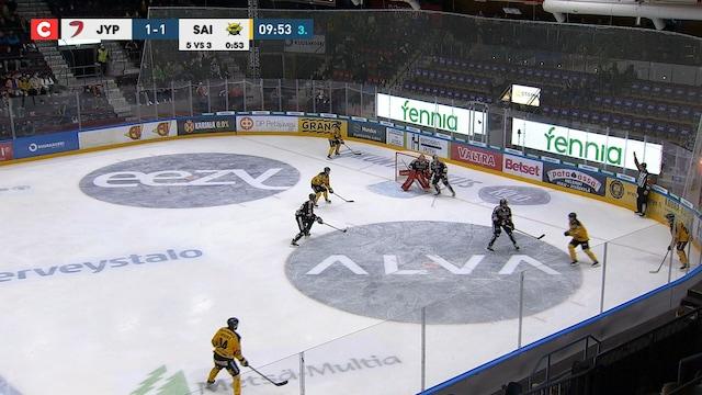Liiga, SaiPa tekee 1-2 maalin ylivoimalla
