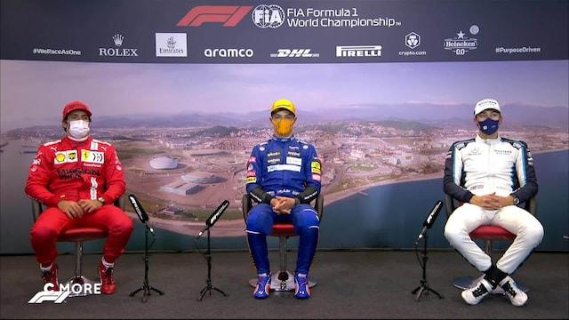 Formula 1: Venäjän GP, Aika-ajon lehdistötilaisuus