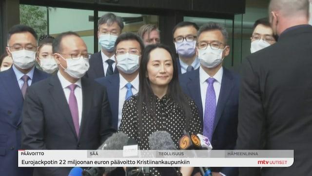 Uutisjutut: Ulkomaat, Huawein talousjohtaja vapaaksi Kanadassa, pidätystapaus syvensi Kiinan ja Yhdysvaltain erimielisyyksiä