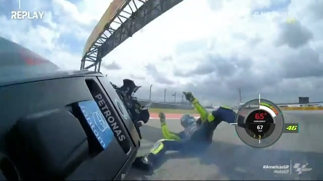 MotoGP: USA:n GP, Kaatuminen – Valentino Rossin USA:n GP:n aika-ajo piloille