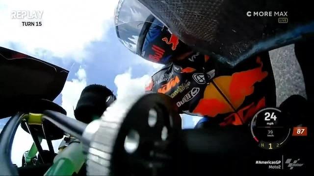 Moto2: USA:n GP, Remy Gardnerille Moto2-kauden ensimmäinen keskeytys