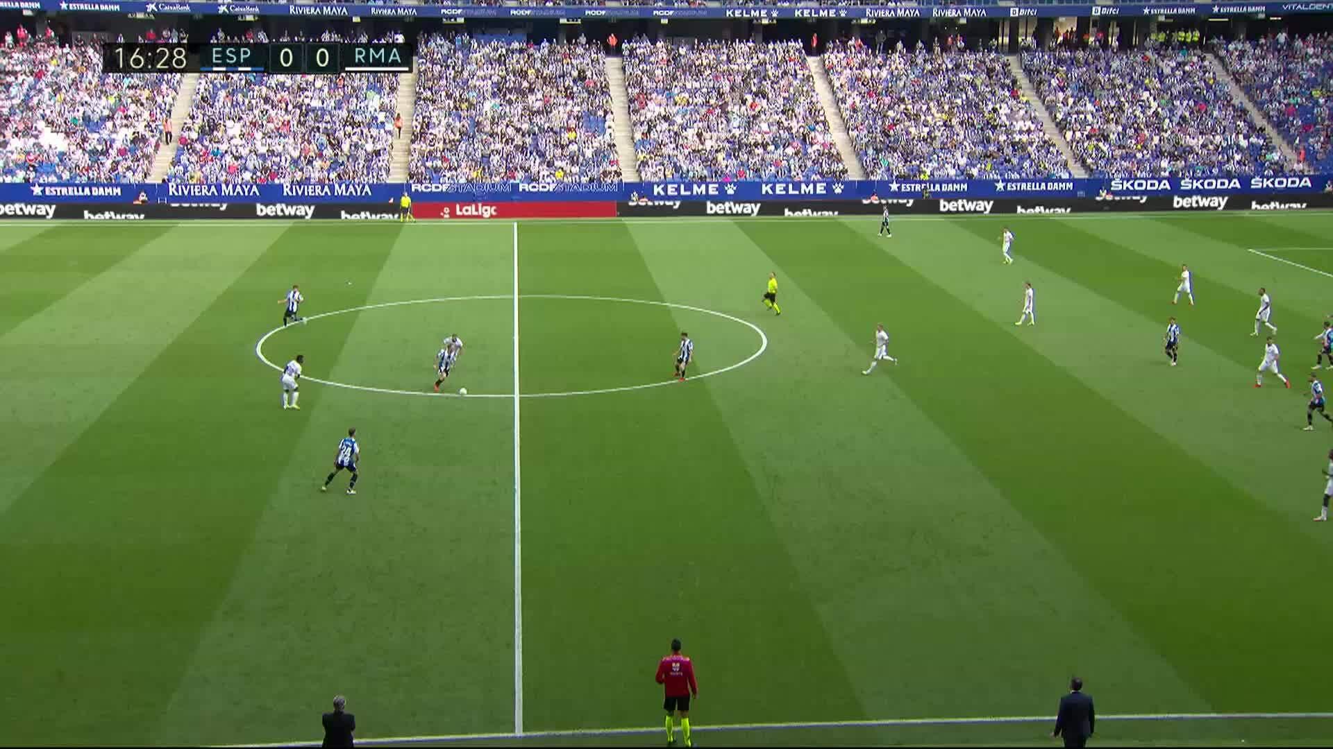 La Liga, Maalikooste: Espanyol - Real Madrid