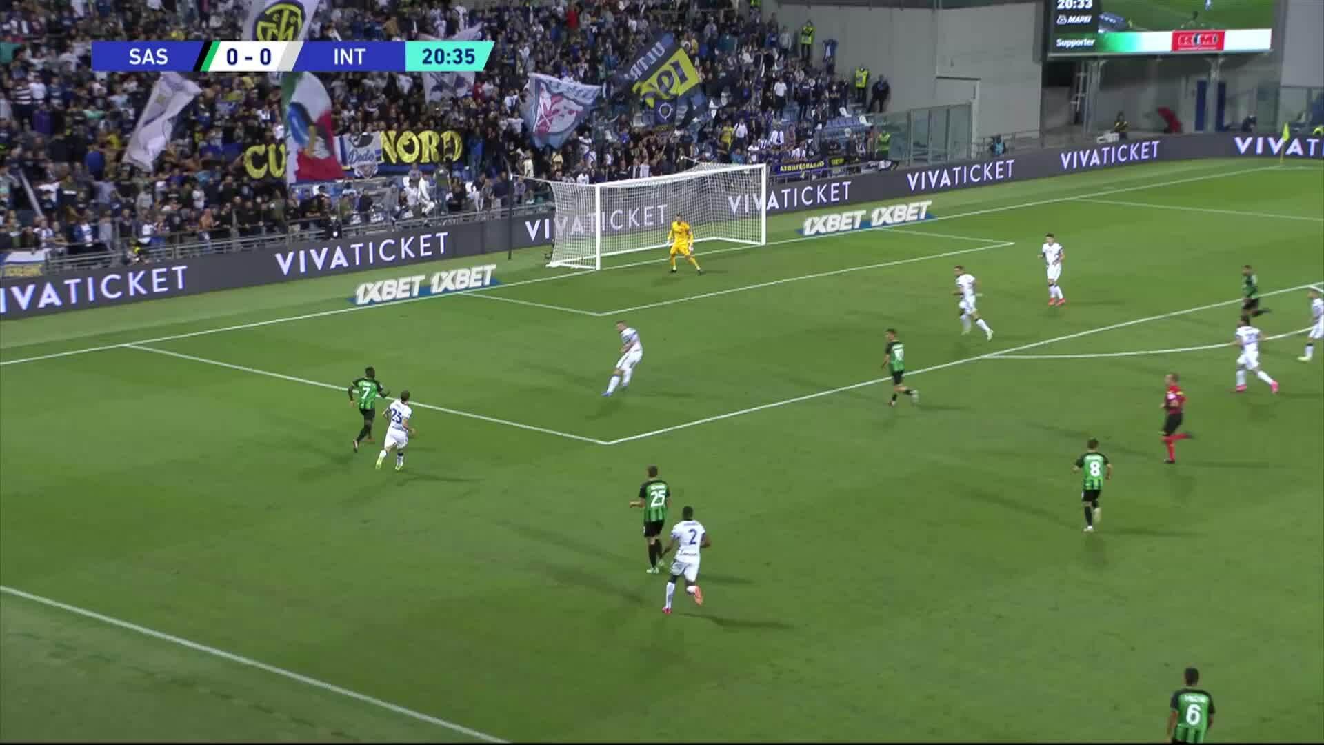 Serie A, Maalikooste: Sassuolo - Internazionale