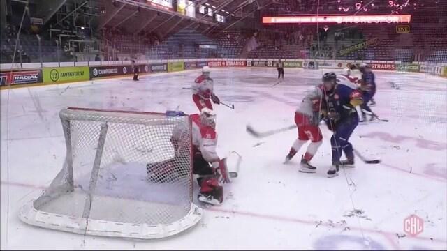 CHL, Kristian Pospisil hyppää laatikkoon ja iskee Lukolle 3-0-maalin