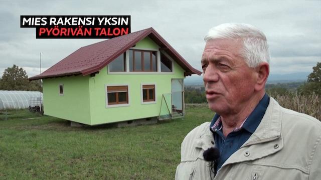 Uutisklipit, Mies kyllästyi vaimonsa jatkuvaan nalkutukseen maisemista – nikkaroi kuudessa vuodessa pyörivän talon