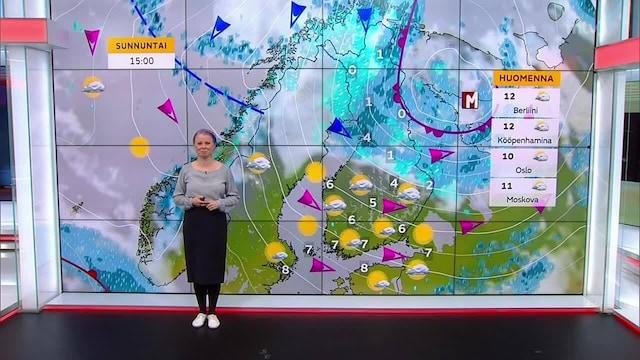 Päivän sää, Perjantai 15.10. Aurinkoinen ja tuulinen viikonloppu etelään