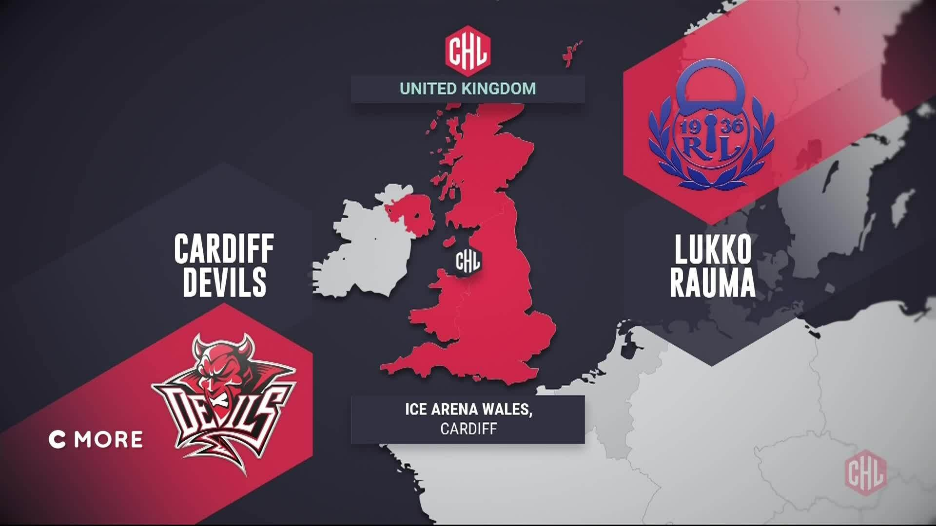 CHL, Maalikooste: Lukko - Cardiff Devils