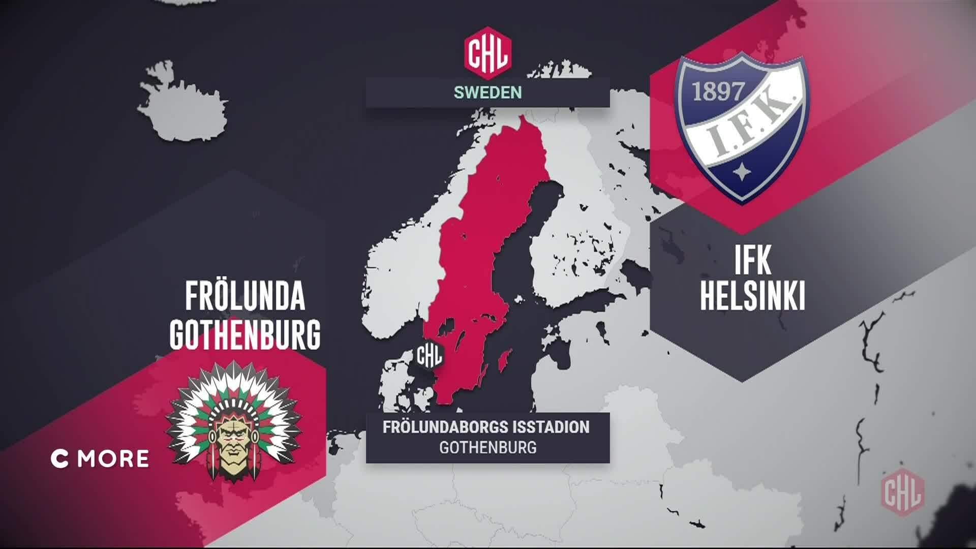 CHL, Maalikooste: Frölunda - HIFK