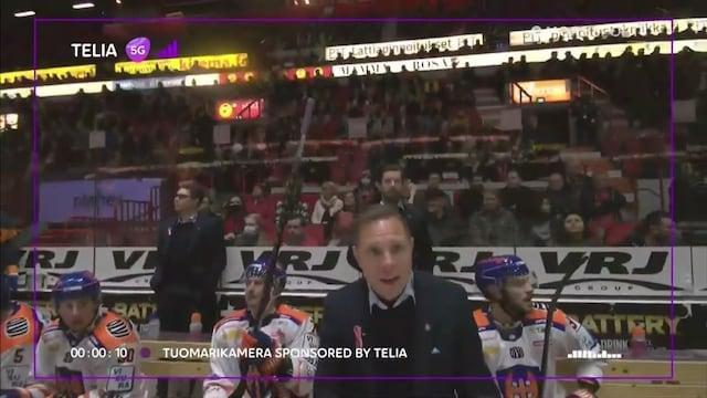 Liiga, Tuomarikamera paljastaa Jussi Tapolan ja erotuomarin tulisen keskustelun