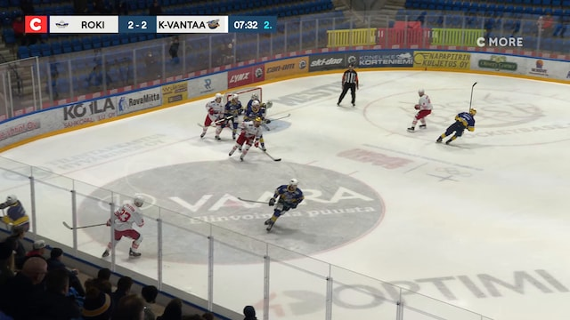 Mestis, Rangaistuslaukaus: RoKi - Kiekko-Vantaa, Joonas Rinnetmäki(56 Kiekko-Vantaa)