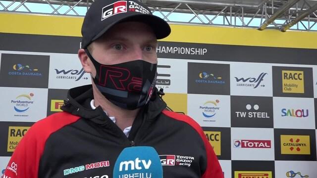 """MM-ralli: Espanja, Jari-Matti Latvalan Toyota neljän erikoiskokeen päässä mestaruudesta: """"Power Stage voi ratkaista"""""""