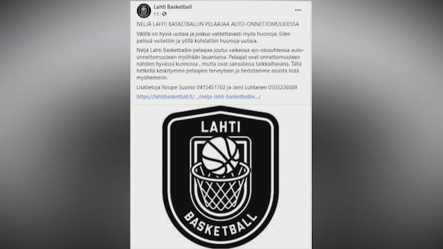 MTV Uutiset Live, Neljä korisliigapelaajaa joutui auto-onnettomuuteen