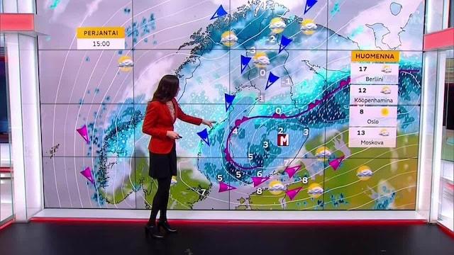 Päivän sää, Keskiviikko 20.10. Lumisateet jatkuvat Lapissa