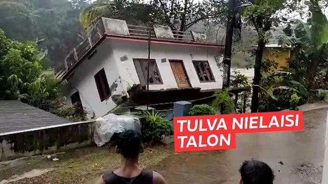 Uutisklipit, Intiassa riehuvat rankkasateet aiheuttavat suuria tuhoja – videolle tallentui, kun tulviva joki nielaisi talon sekunneissa