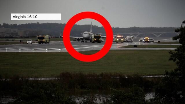 Uutisklipit, Matkustajakoneen renkaat puhkesivat Washingtonissa – lopputuloksena kaaos lentokentällä