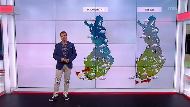 Päivän sää, Torstai 21.10. Syysmyrsky pyyhkäisee Suomen yli