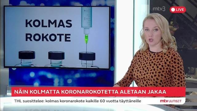 """Uutisklipit, THL:n johtava asiantuntija: """"Kunnat voivat alkaa jakaa kolmansia rokotteita välittömästi"""""""