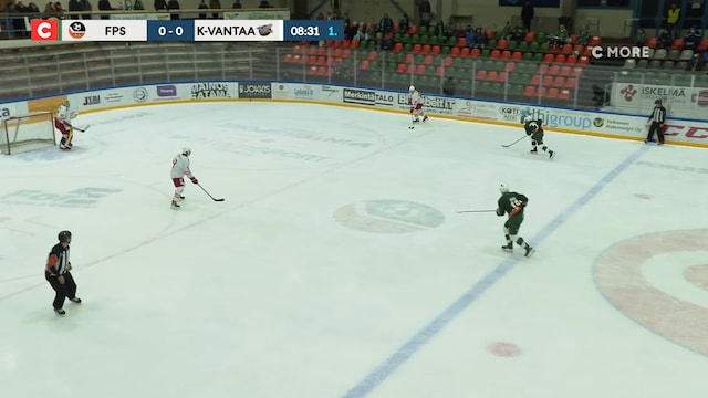 Mestis, Torjunta: FPS - Kiekko-Vantaa, Sebastian Katajainen(30 Kiekko-Vantaa)